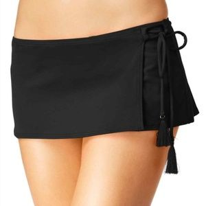 Michael Kors Side Tie Tassel Swim Skirt S